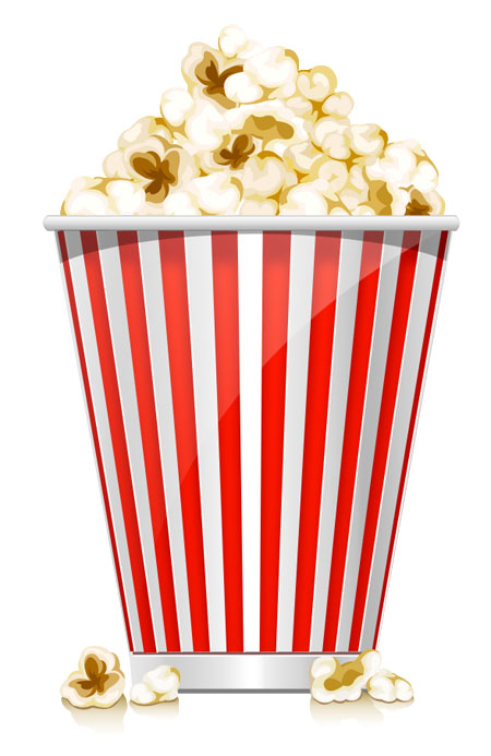 Vector Popcorn Box Icon (PSD)
