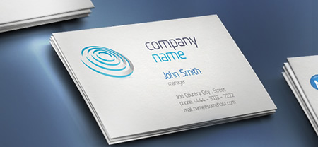 Print Ready Business Card Template for Photoshop