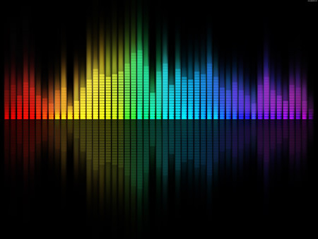 Digital Music Equalizer Background