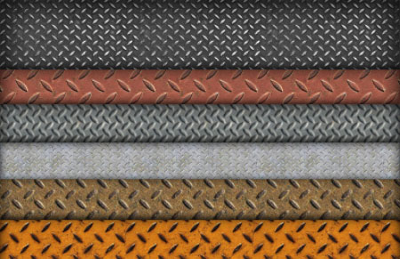 Worn Tileable Treadplate Patterns