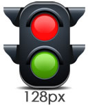 Traffic Light Icon 128px