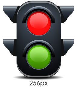Traffic Light Icon 256px