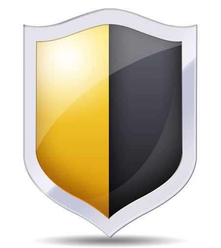 Security Shield Icon PSD
