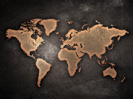 Grunge style World Map Background