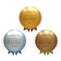 Award certification Badges PSD