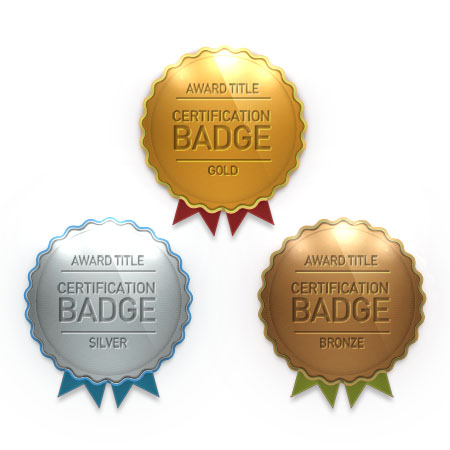 Award certification Badges PSD