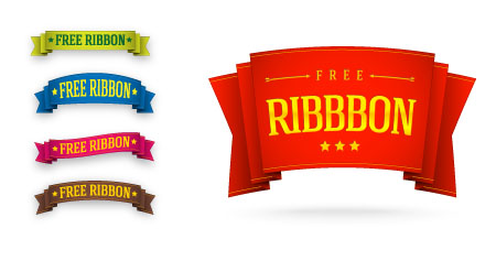 Ribbon Template Set for Photoshop