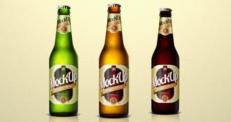 Beer Bottle Templates PSD