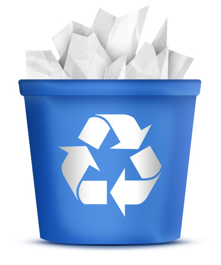 blue recycle bin icon in a fully editable psd format use as an icon    Recycle Bin Icon Black
