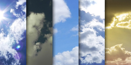 Cloudy sky textured backgrounds