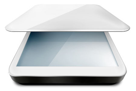 Flatbed Computer Scanner Icon