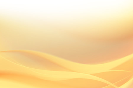 Soft Yellow Wave Background in High Resolution