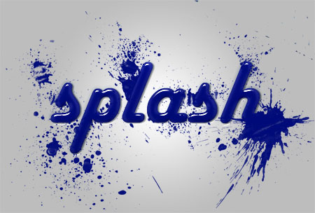 Splash Text Effect (PSD)