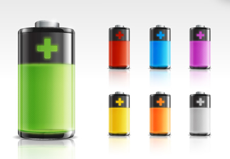 Battery Icon Set PSD