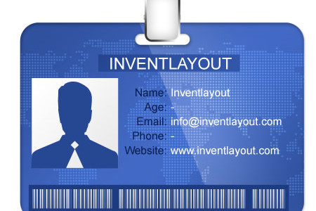 Identification Card Template for Photoshop