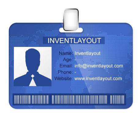 Id badge template psd for Id badge template free