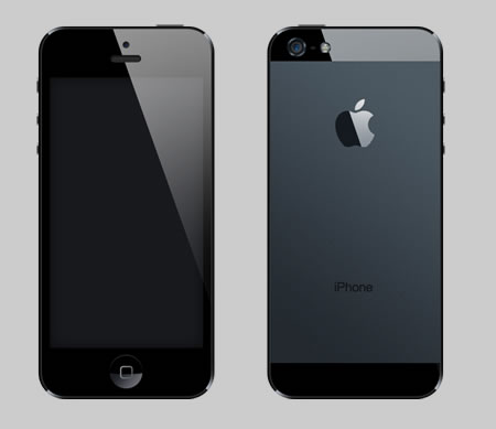 iPhone 5 Template for Photoshop