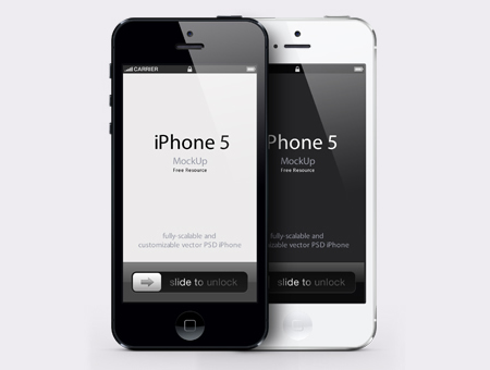 iPhone 5 Mockup PSD Template
