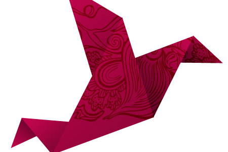 Origami Bird Vector PSD