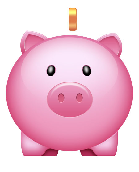 Vector shaped Pink Piggy Bank icon