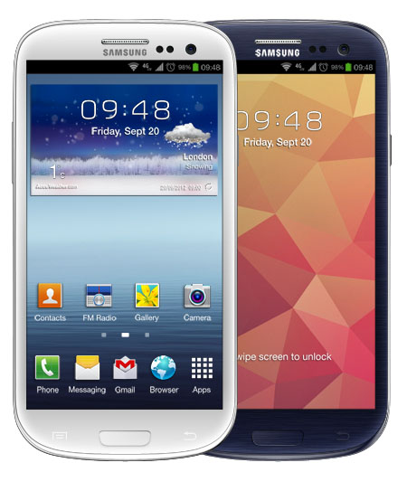 Samsung Galaxy S III Photoshop Template