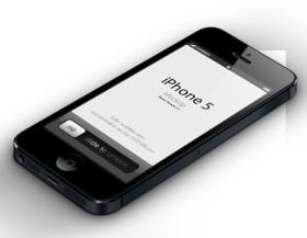 3D iPhone 5 Vector Mockup