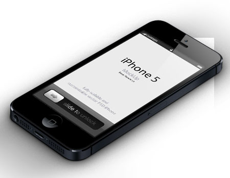 3D iPhone 5 Vector Mockup