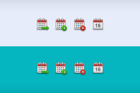 Transparent Calendar Icons