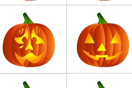 Halloween Pumpkin Stencil Template Patterns