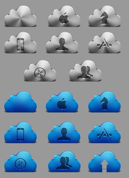 iCloud App Icon Set