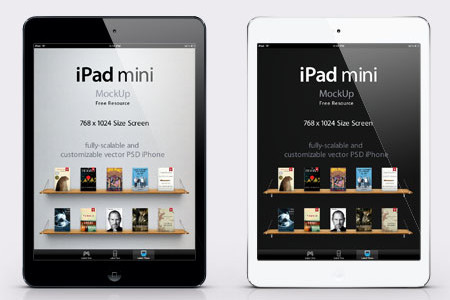 iPad Mini Template for Photoshop