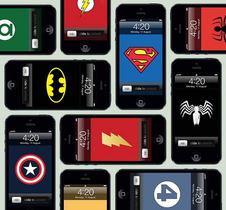 iPhone 5 comic book wallpapers