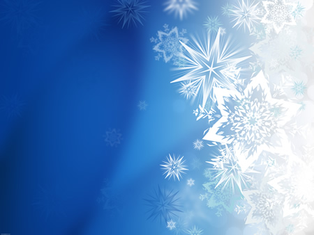 High Resolution Winter Snowflake Background