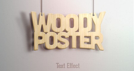 Realistic Wood PSD Text Effect