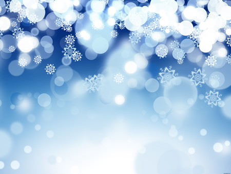 Blue Holiday Snowflake Background