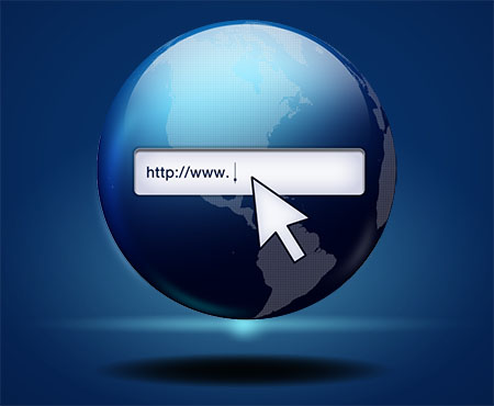 Globe Web Search Icon (PSD)