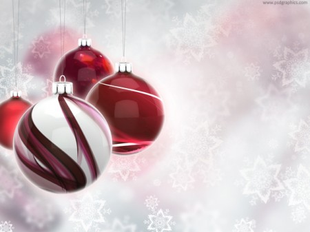 Beautiful Christmas Ball Ornaments Background