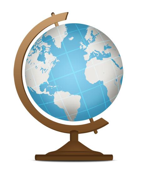 Globe Icon PSD