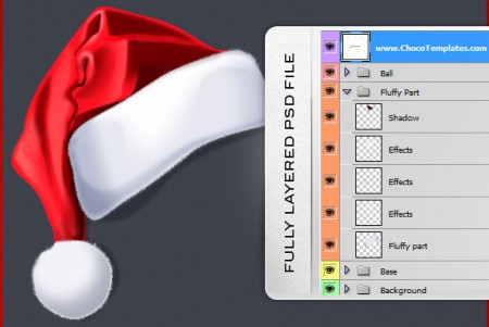 Christmas Santa Hat PSD