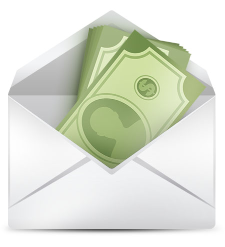 Money Inside Envelope Icon