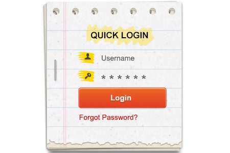 Login Form Template PSD