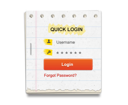 Login Form Template For Photoshop