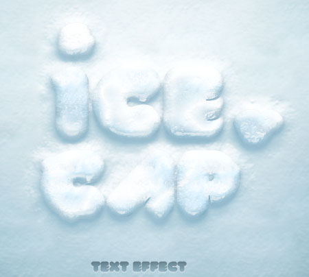 Snow and Ice Text Effect for Photoshop