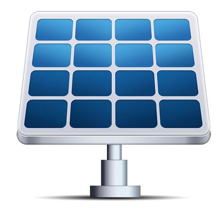 Solar Panel Icon (PSD)