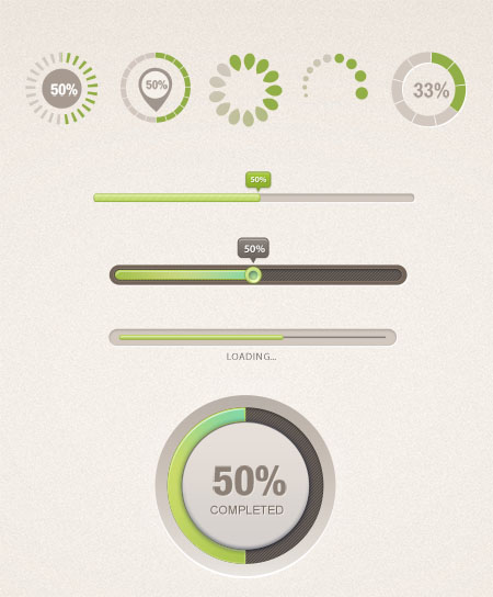 9 Editable Progress Bars For Photoshop