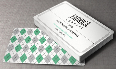 Retro Business Card Template AI Format