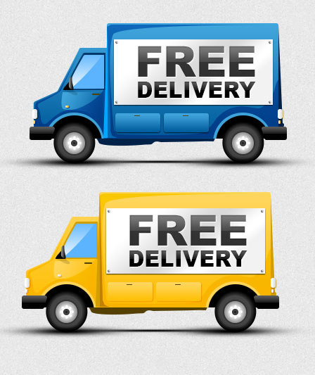 Free Delivery Truck icons