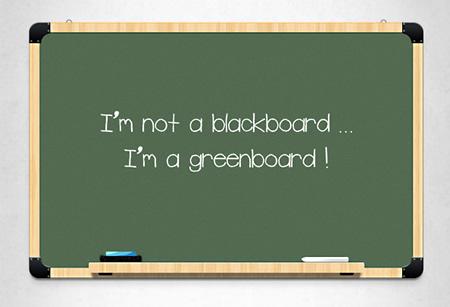 Green Chalkboard Template PSD