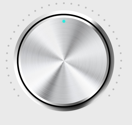 Metal Volume Dial (PSD)
