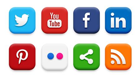 High Quality Social Media Icon Set